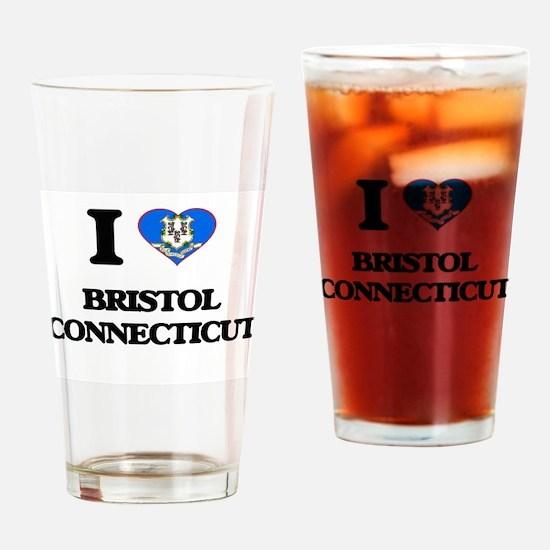 I love Bristol Connecticut Drinking Glass