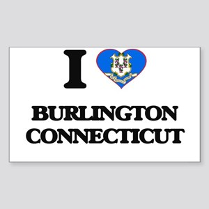 I love Burlington Connecticut Sticker