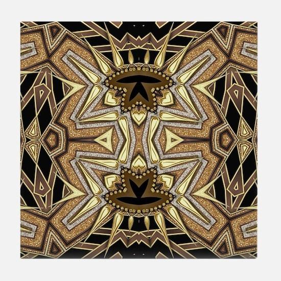 Art Deco May #1 Tile Coaster
