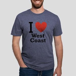 i-love-west-coast-light Mens Tri-blend T-Shirt