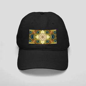 Peacock Glow Cross Black Cap