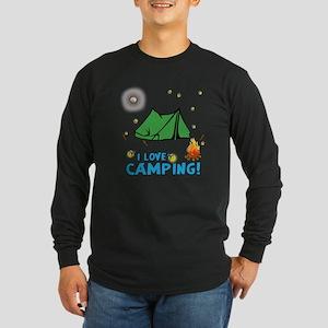 I love camping-2-Blue Long Sleeve T-Shirt