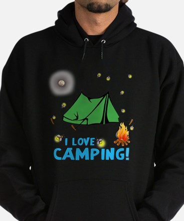 I love camping-2-Blue Hoodie