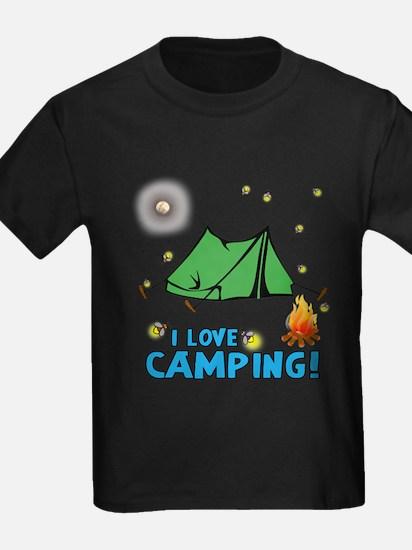 I love camping-2-Blue T-Shirt