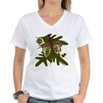 Optimist - Pessimist Acorns Women's V-Neck T-Shirt