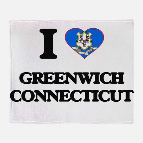 I love Greenwich Connecticut Throw Blanket