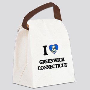 I love Greenwich Connecticut Canvas Lunch Bag