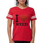 i-love-weed Womens Football Shirt