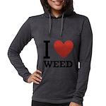 i-love-weed Womens Hooded Shirt