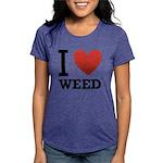 i-love-weed Womens Tri-blend T-Shirt
