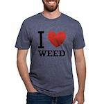 i-love-weed Mens Tri-blend T-Shirt