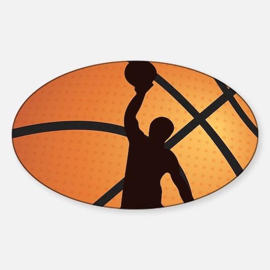 Basketball dunk Bumper Stickers