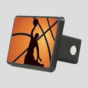 Basketball dunk Rectangular Hitch Cover
