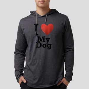 i-love-my-dog Mens Hooded Shirt