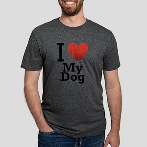 i-love-my-dog Mens Tri-blend T-Shirt
