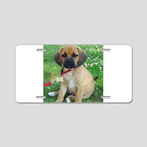 Puggle Aluminum License Plate