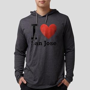 i-love-san-jose Mens Hooded Shirt