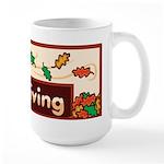 The giving thanks Thanksgiving Large Mug