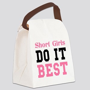 SHORT GIRLS DO IT BEST Canvas Lunch Bag
