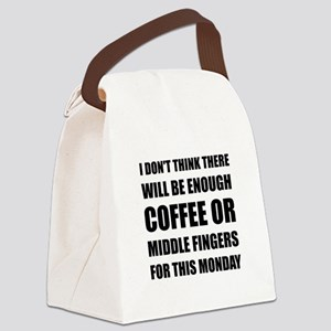 Coffee Middle Finger Canvas Lunch Bag