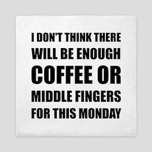 Coffee Middle Finger Queen Duvet