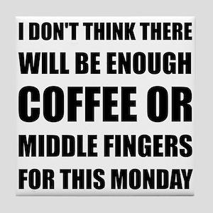 Coffee Middle Finger Tile Coaster