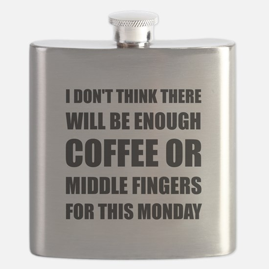 Coffee Middle Finger Flask