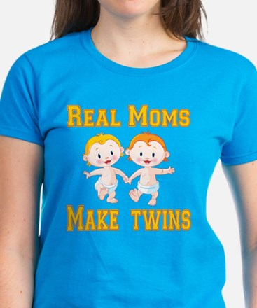 Real Moms Make Twins Women's Dark T-Shirt