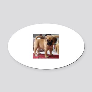 Puggle Oval Car Magnet
