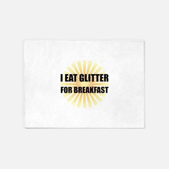 Glitter For Breakfast 5'x7'Area Rug