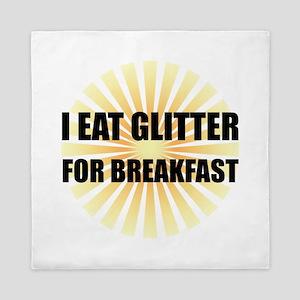 Glitter For Breakfast Queen Duvet