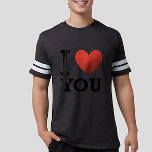 i-love-you-2 Mens Football Shirt