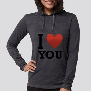 i-love-you-2 Womens Hooded Shirt
