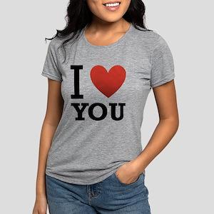 i-love-you-2 Womens Tri-blend T-Shirt