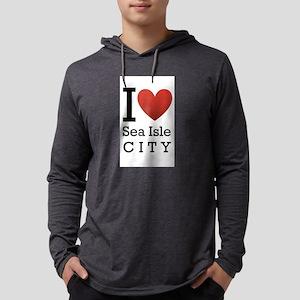 sea isle city rectangle Mens Hooded Shirt