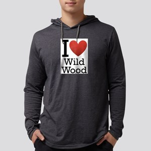 wildwood rectangle Mens Hooded Shirt