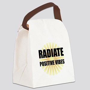 Radiate Positive Vibes Canvas Lunch Bag