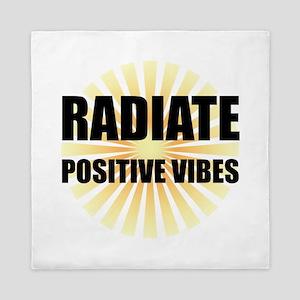 Radiate Positive Vibes Queen Duvet