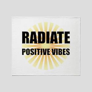 Radiate Positive Vibes Throw Blanket