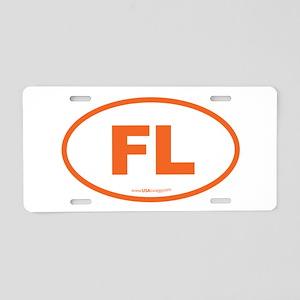 Florida FL Euro Oval Aluminum License Plate