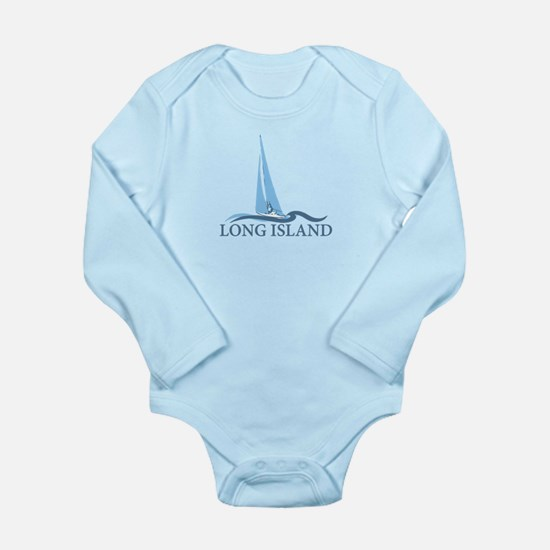 Long Island - New York Long Sleeve Infant Bodysuit