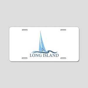 Long Island - New York. Aluminum License Plate