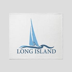 Long Island - New York. Throw Blanket