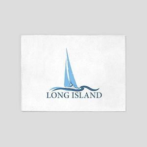 Long Island - New York. 5'x7'Area Rug