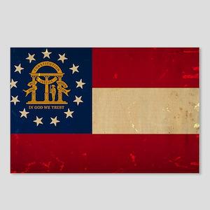 Georgia Flag VINTAGE Postcards (Package of 8)