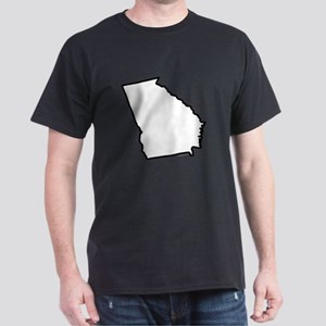 Georgia State Outline Dark T-Shirt