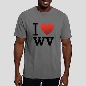 I-love-west-virgina Mens Comfort Colors Shirt