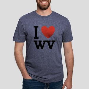 I-love-west-virgina Mens Tri-blend T-Shirt