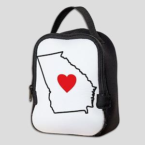 I Love Georgia Neoprene Lunch Bag