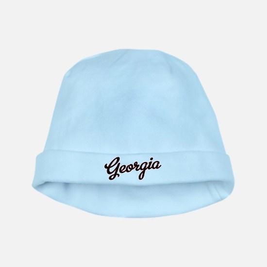 Georgia Script Black VINTAGE baby hat
